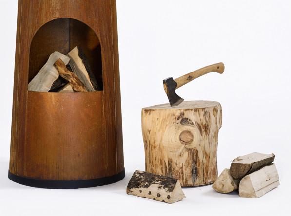 Smokestack tuinhaard detail - Frederik Roijé