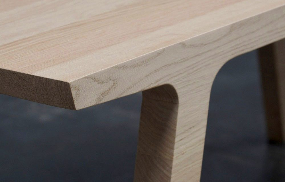 eiken houten eettafel One by RKNL