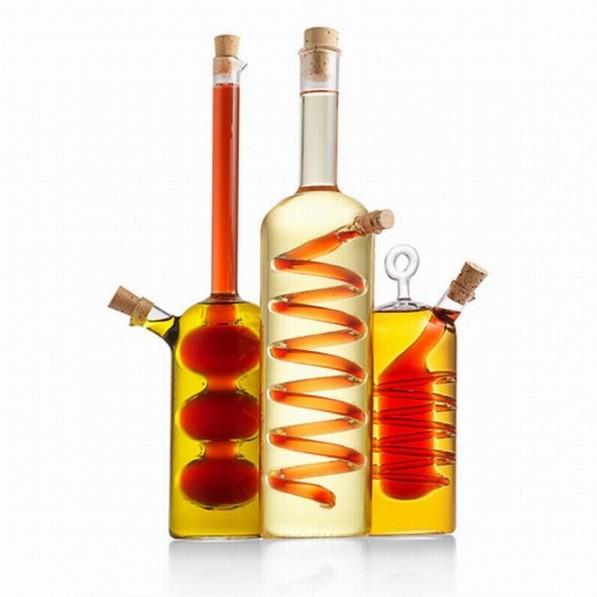 olie en azijn flessen