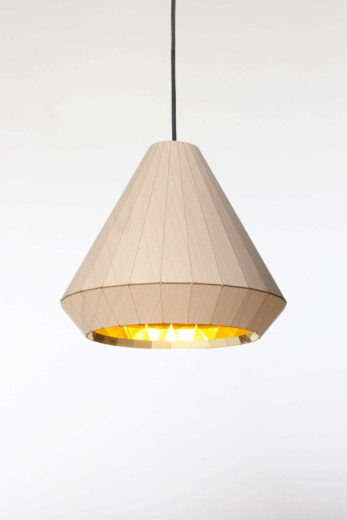 Hanglamp Wooden Light aan -David Derksen Design