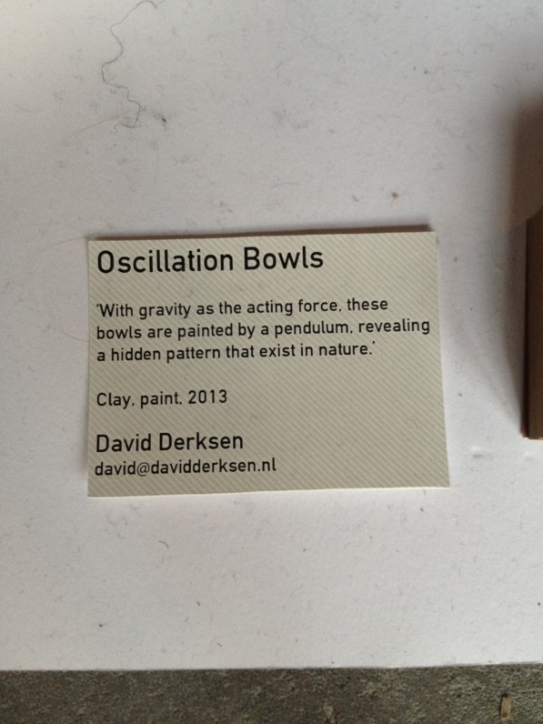 Oscillation Bowls - klei - verf - uitleg David Derksen DDW