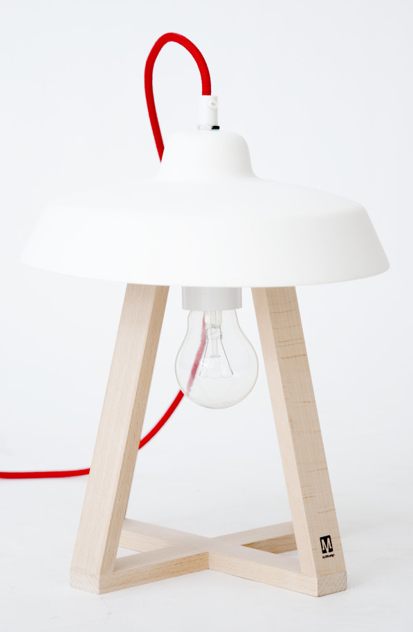 Sputnik lamp small wit -MOSS design