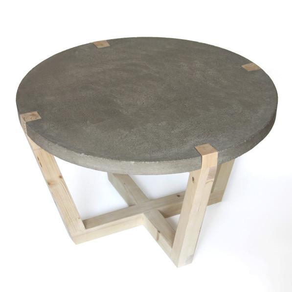 Tafel beton kuiken Design handgemaakt bovenaanzicht