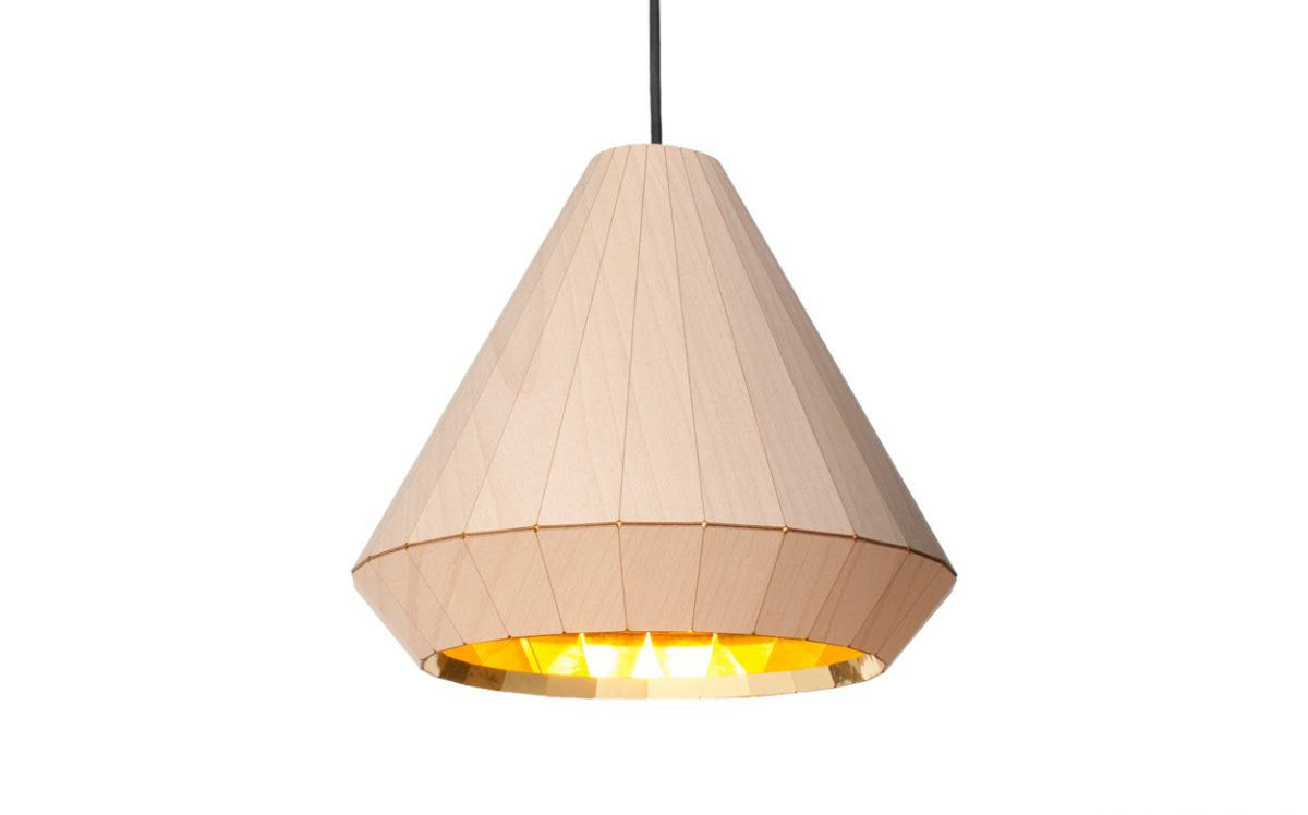 Wooden light hanglamp