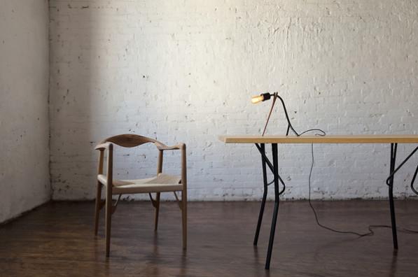Kaji teak houten lamp