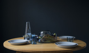 Daphna Laurens Ziel glassware blauw set