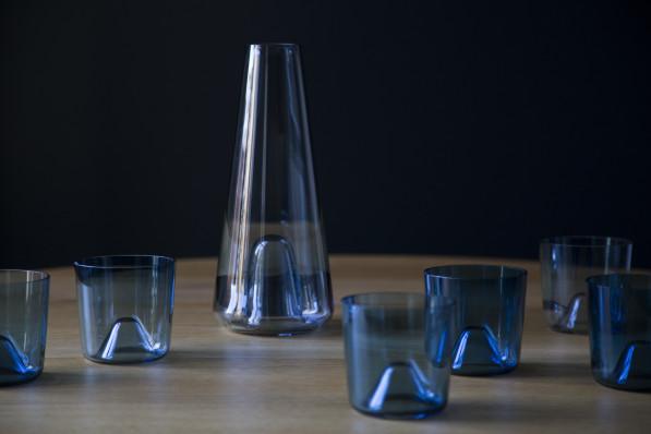 Daphna Laurens glaswerk Ziel blauw