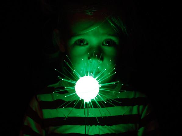 Lichtbloem groen kind van Coens