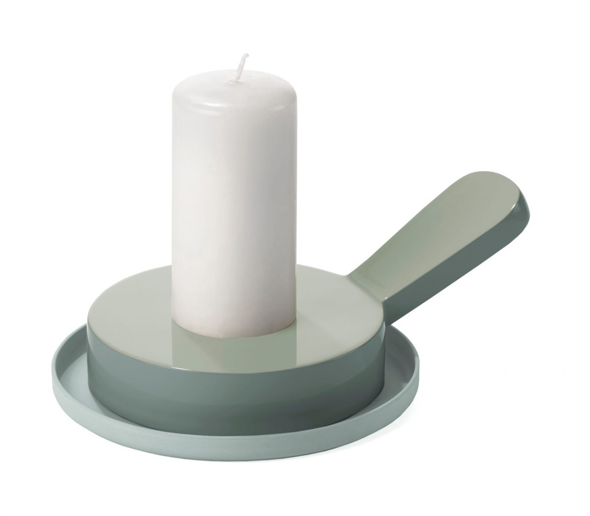 Candlestick grey Saigon Lacquer Large grijs Imperfect Design