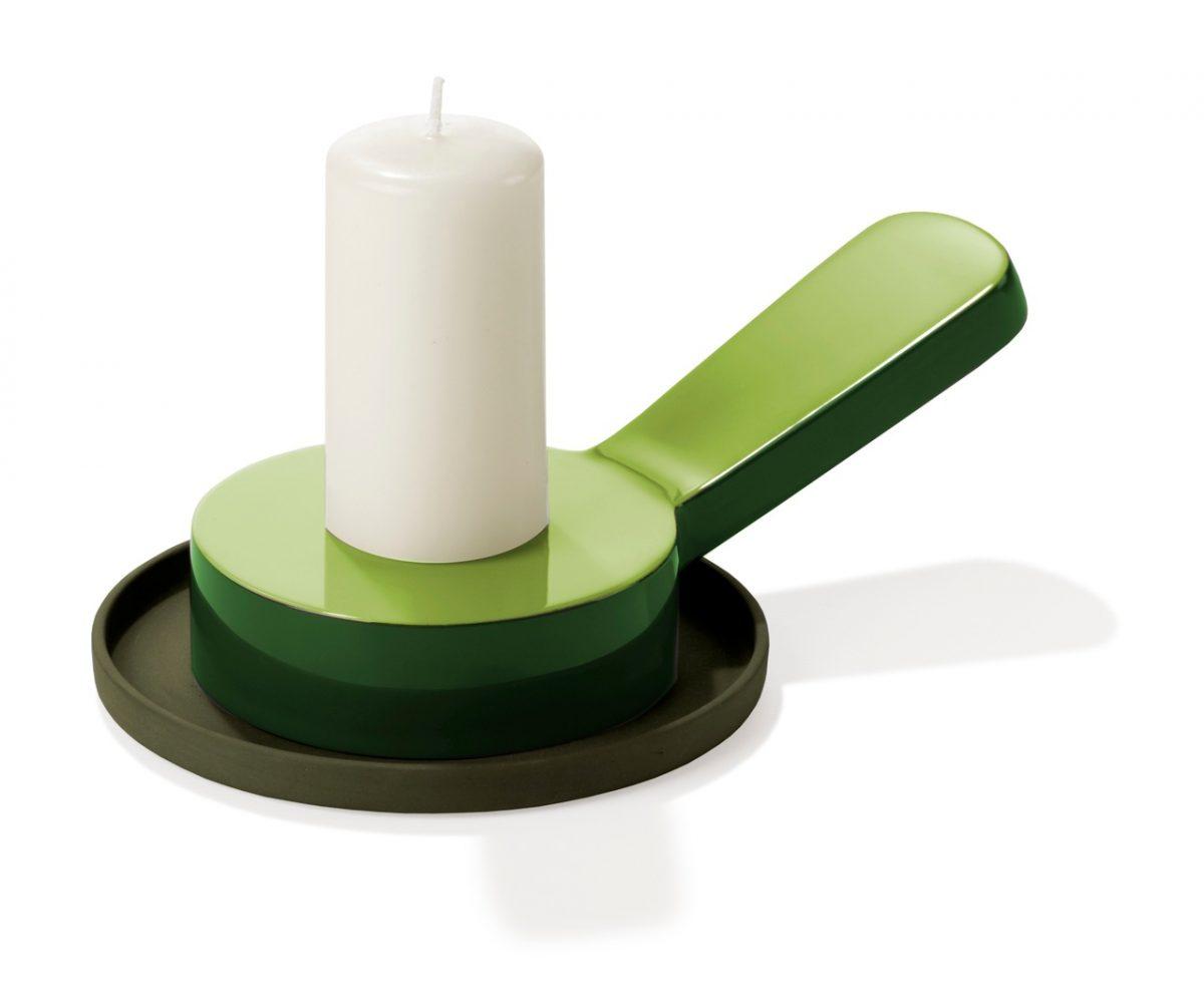 Kandelaar Candlestick Saigon Lacquer Groen Green  Medium van Arian Brekveld voor Imperfect Design