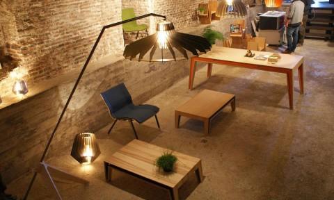 Lampen en tafels van Van Tjalle en Jasper Inside Design Amsterdam