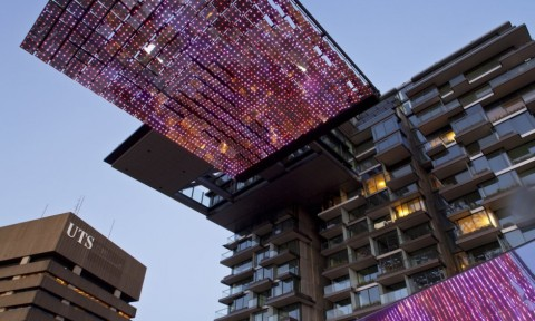 Sea Mirror lichtkunstinstallatie Sydney