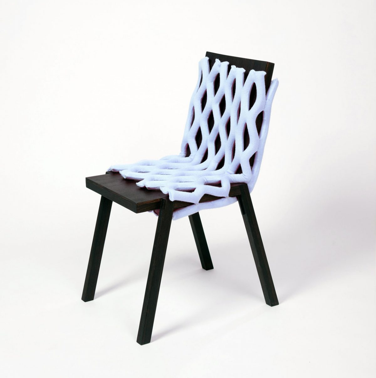 Lichtblauwe Knit-Net Chair Wear