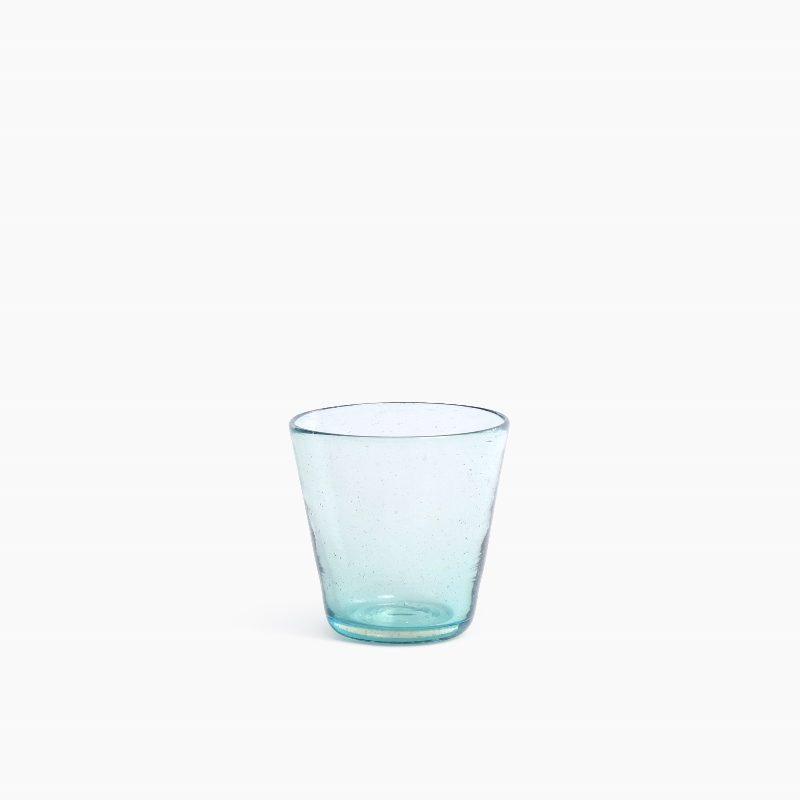 Cantel drinkingglass aqua van Van Eijk en Van der Lubbe
