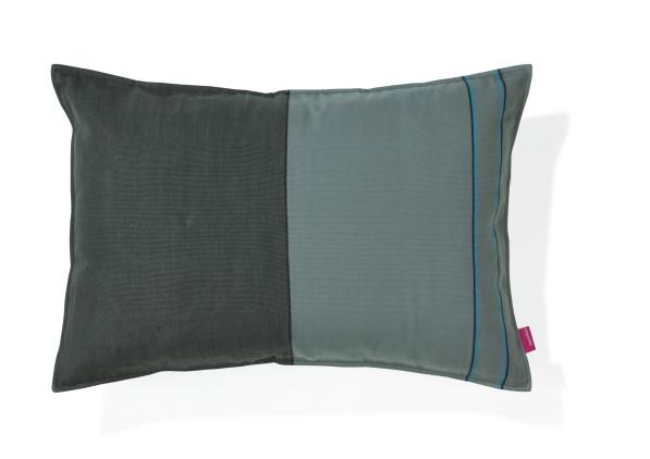Kussen Catu handgeweven katoen groen blauw - Imperfect Design