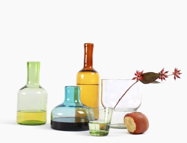 Cantel glaswerk serie karaffen in 3 groottes en vaas small