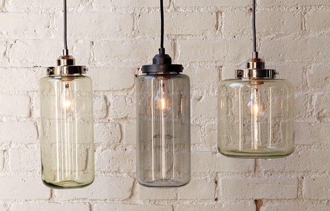 Design Keuken Hanglamp : Potten als glazen hanglampen van West Elm I ...
