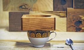 Houten koffiezetter van Canadiano