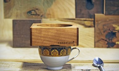 Minimalistische koffiezetter