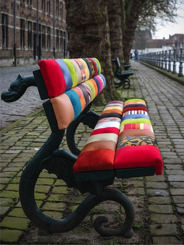 Bench patchwork in Bruges van Select Style