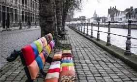 Patchwork vrolijjkt Brugge op