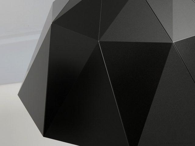 Sander Mulder Carat lamp donkergrijs detail