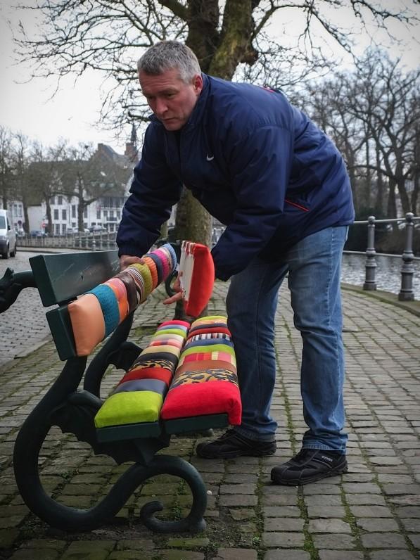 Steve Vanhulle van Select Style met zijn patchwork