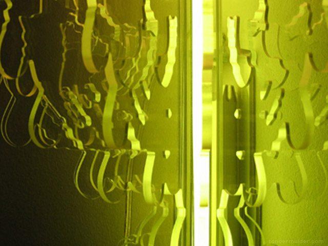 Sander Mulder Therese kroonluchter kleurfilter groen