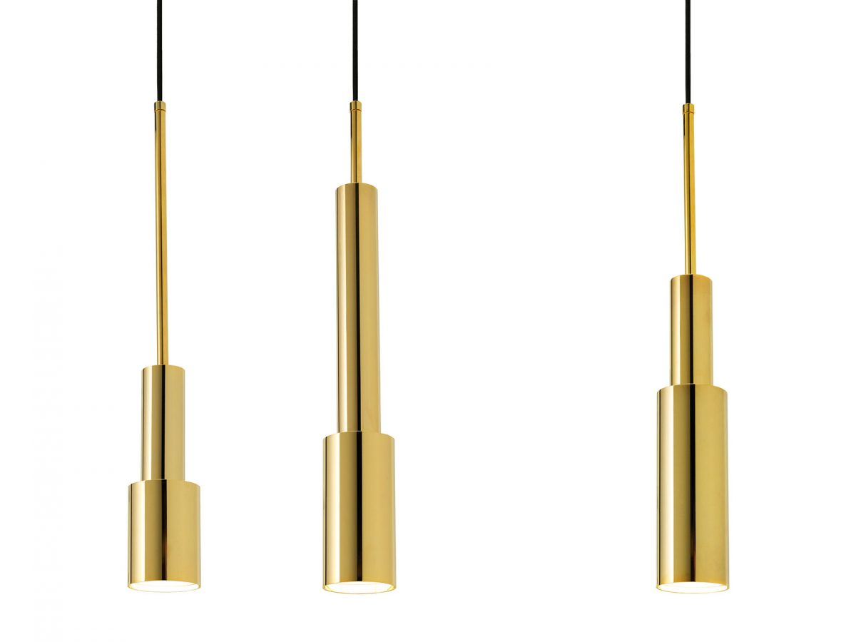 Frederik Roijé – SkyLight hanglamp goud – gold pendants Dutch design
