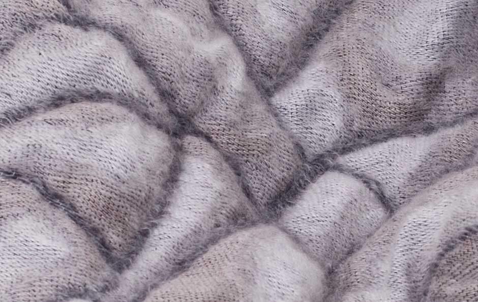 Hide deken grijs