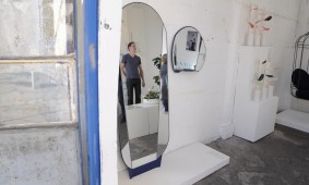 Split mirror met Nathan_Wiering van Ontwerpduo foto Gimmii