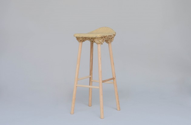 Kruk gimmii Well proven stool door Marjan van Aubel & James Shaw voor Transnatural Label