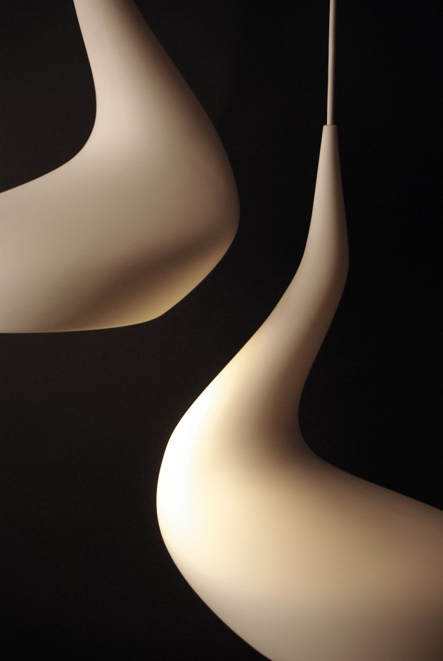 Ash Allen Dollop lamp organisch keramiek