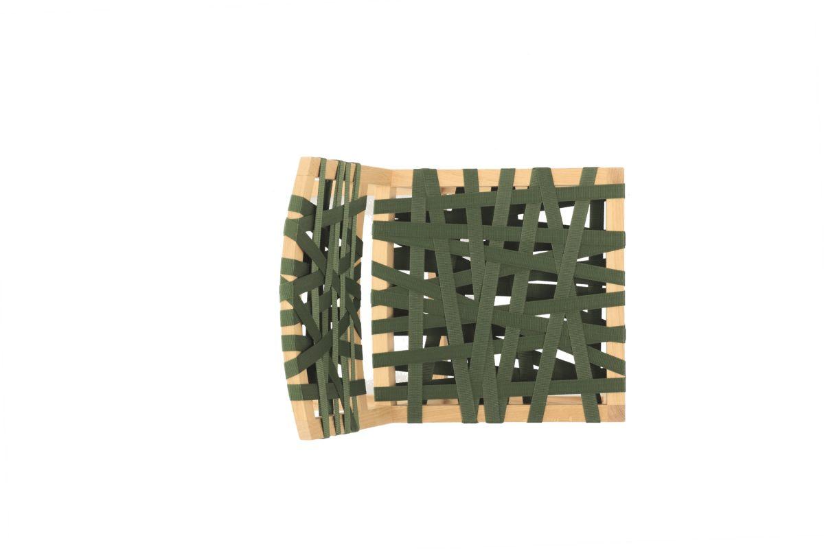 Gispen-Berlage-stoel-groen-bovenkant
