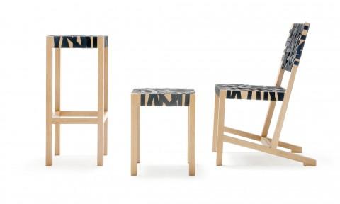 Gispen Berlage stoel, kruk en barkruk van Richard Hutten
