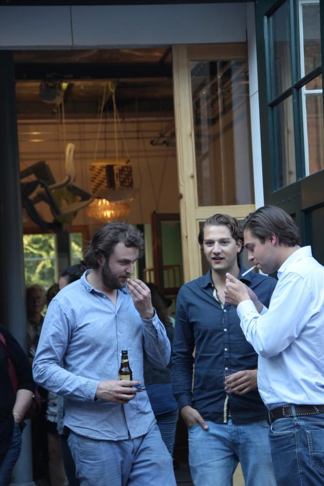 Dirk van der Kooij tijdens zijn openingsfeest Hembrug Zaandam foto Gimmii
