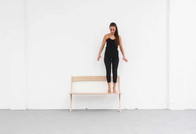 Leaning Bench essenhout