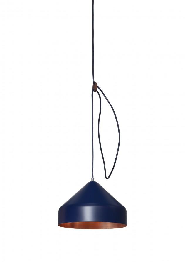Lloop lamp copper blue ofwel Llus lamp koper en blauw van Ontwerplabel Vij5