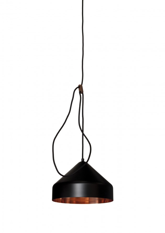 Lloop lamp copper black Llus lamp zwart Vij5