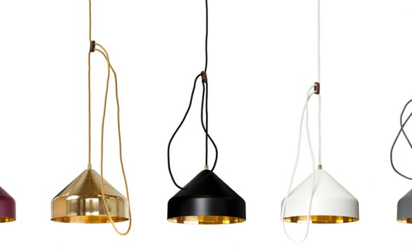 Lloop brass lamp