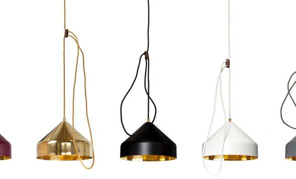 Lloop brass lamp