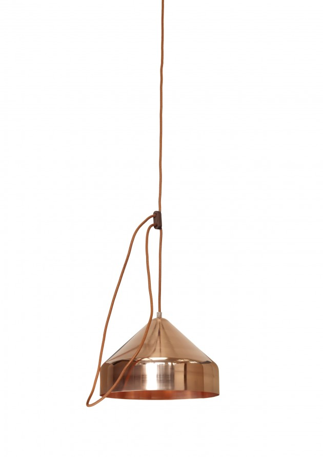 Lloop lamp copper polished