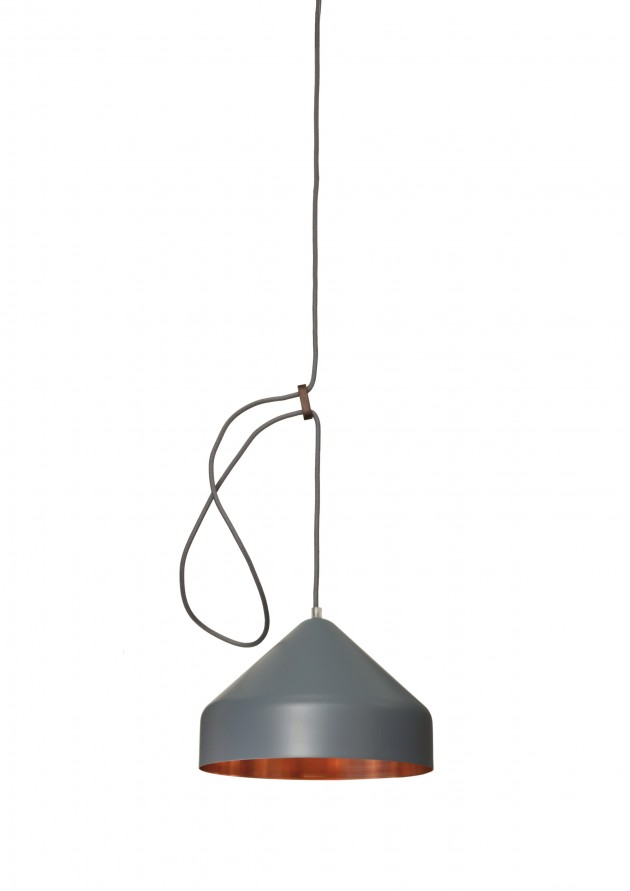 Llus lamp antraciet Lloop copper grey van Vij5 en Ontwerpduo