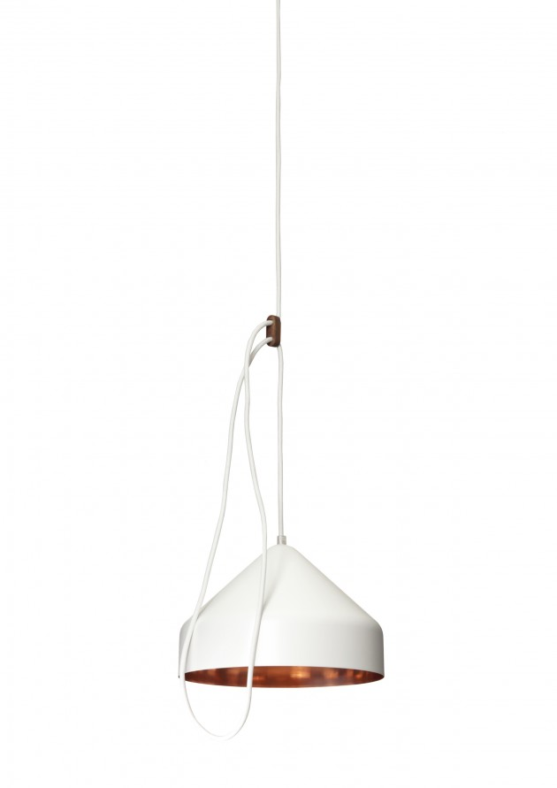 Llus lamp wit Lloop lamp copper white van Vij5 en Ontwerpduo
