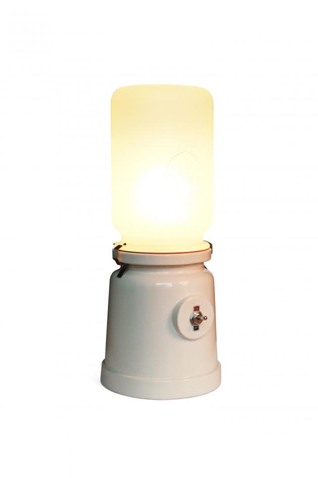 Weckfles Meck lamp wit  Cor Unum Kranen & Gille