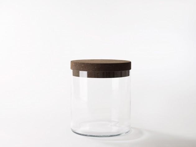 Treasure table van Frederik Roije groot donkerbruin kurk en mondgeblazen glas