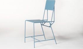 Blauwe Hensen Chair van New Duivendrecht