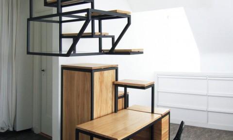 Mieke Meijer Object Eleve trap bureau opbergen