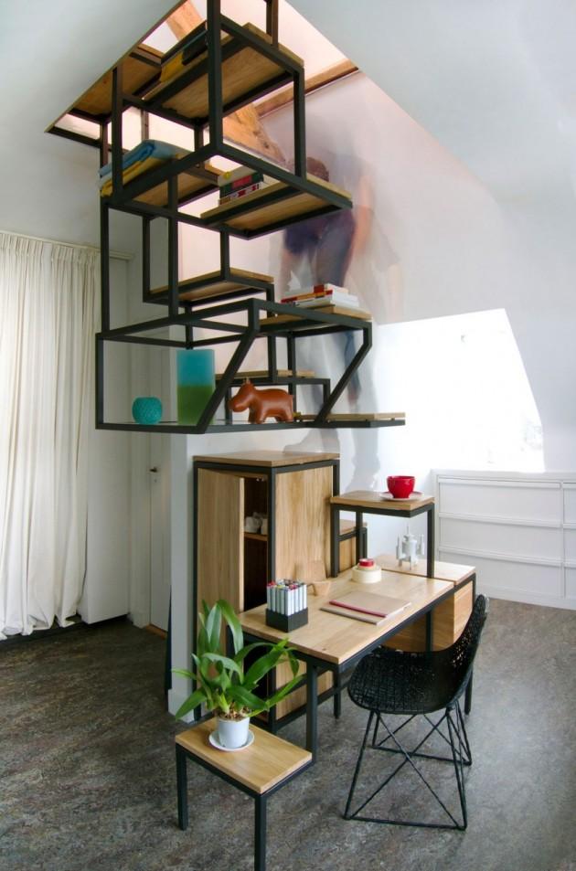 Mieke Meijer Object élevé bureau trap opbergruimte en display