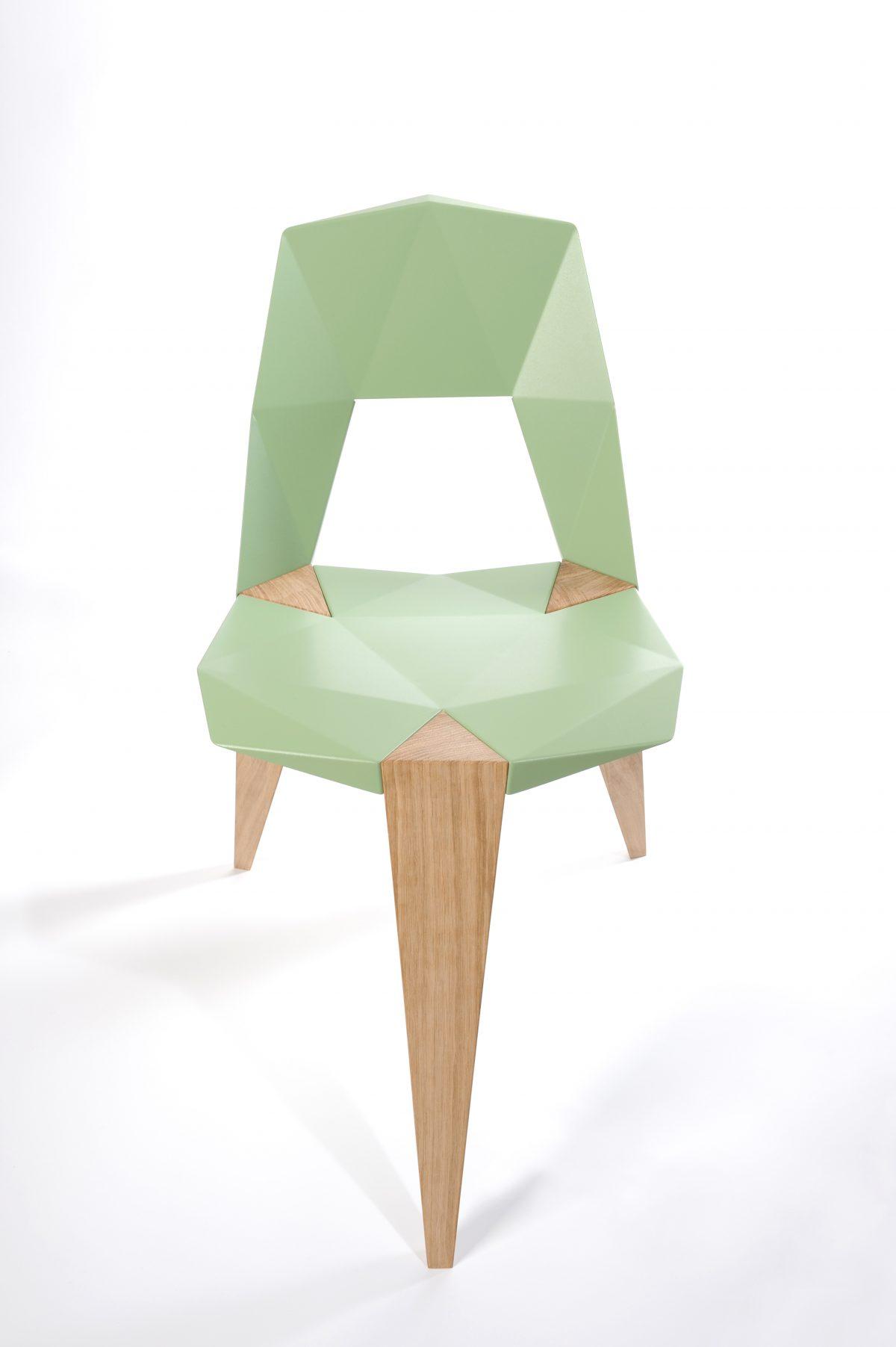 Pythagoras stoel Sander Mulder groen